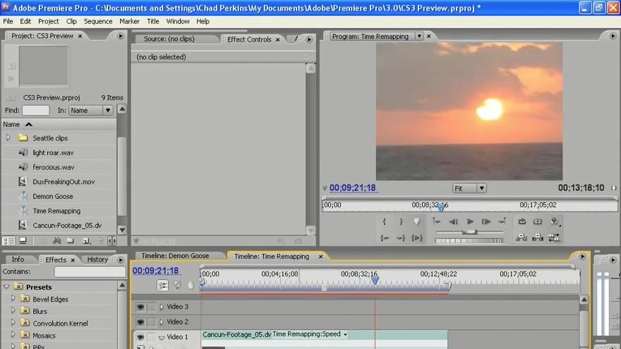 : Premiere Pro CS3 New Features