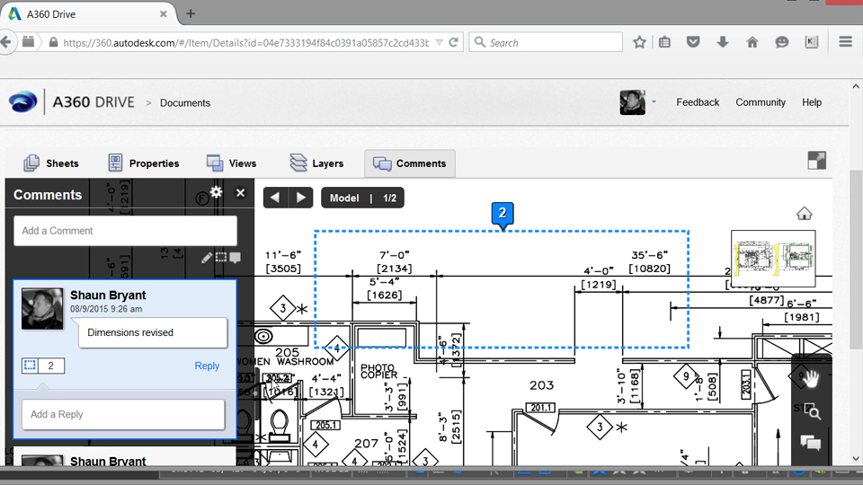 Previewing the drawing in A360 using the Viewer: Optimizing Your AutoCAD Desktop to Go Mobile