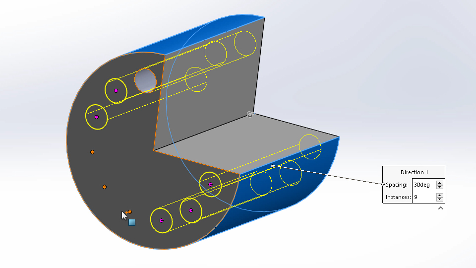 Dimensioning holes and curved features: SOLIDWORKS 2016 Essential Training