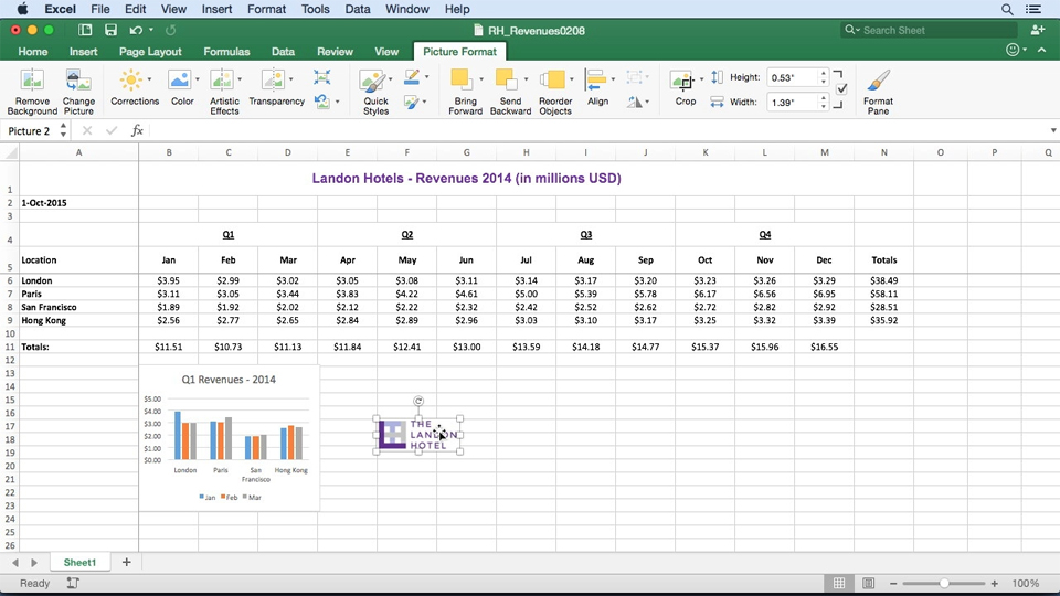 Inserting recommended charts: Office 365 for Mac: Learn Excel