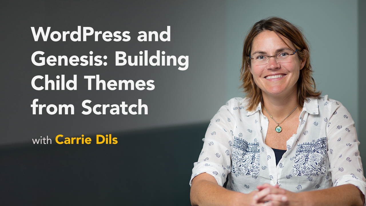 Finish the front page: WordPress and Genesis: Building Child Themes from Scratch