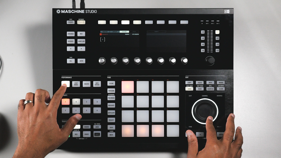 Creating the initial melody or idea: Beat Making with MASCHINE