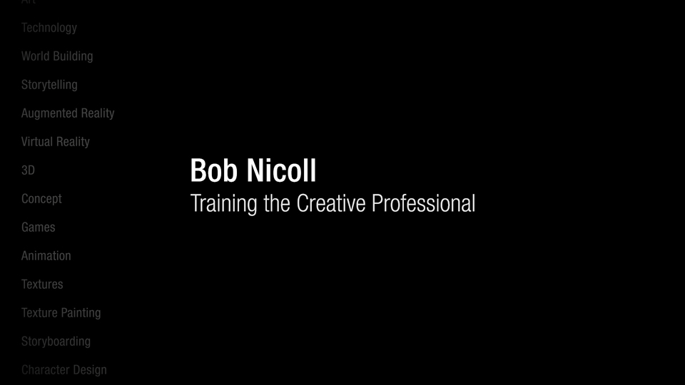 Bob Nicoll: Training the creative professional: Bob Nicoll: Training The Creative Professional
