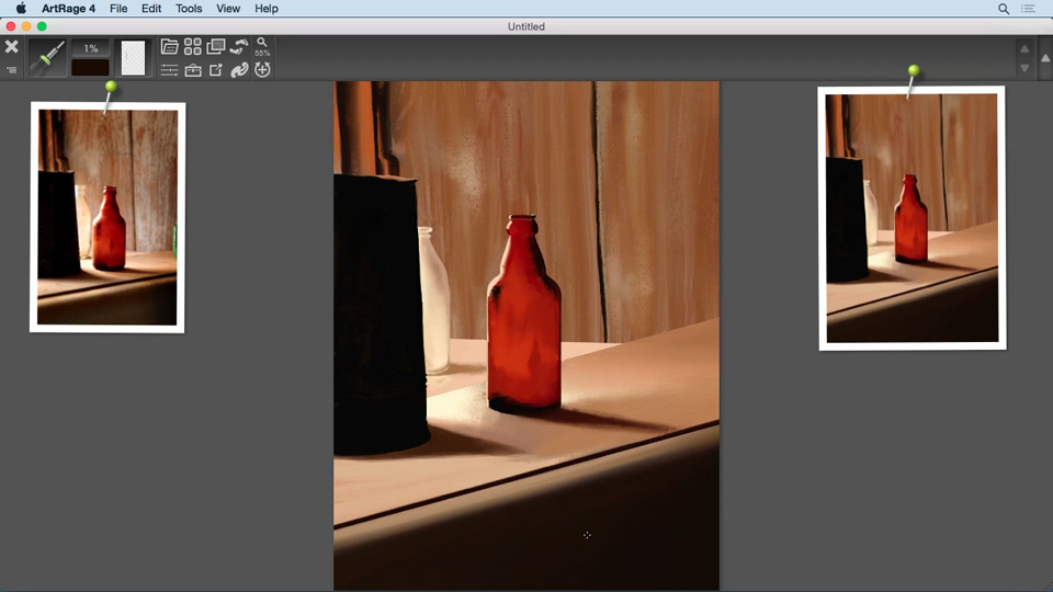 Applying color with the Paint Roller: Up and Running with ArtRage