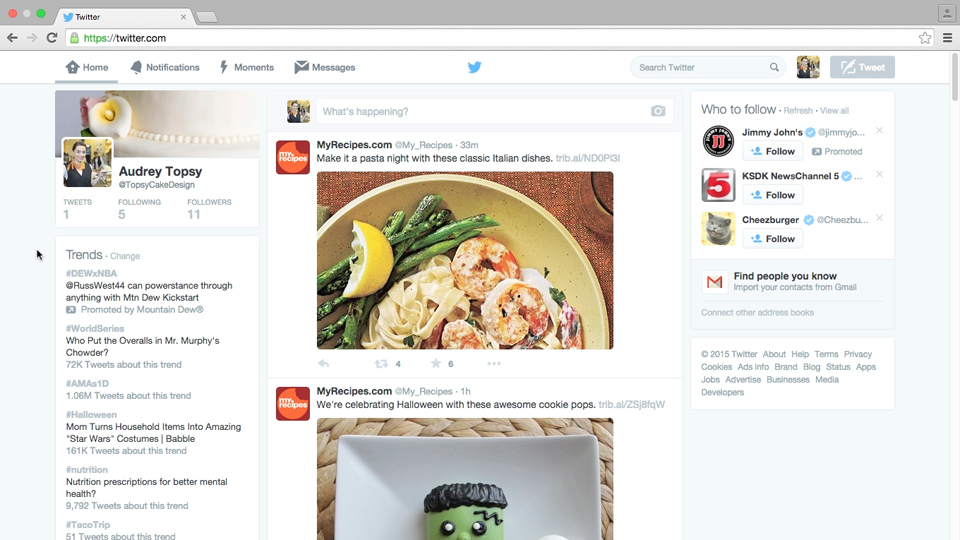 Navigate the interface: Advertising on Twitter
