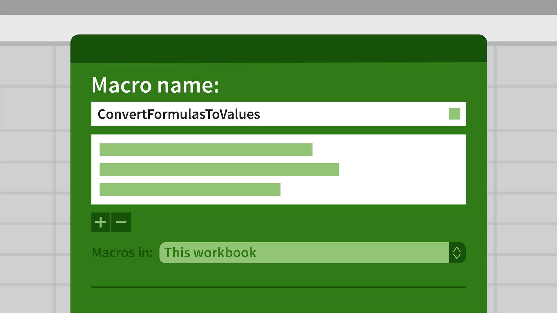 Excel for Mac 2016: Macros