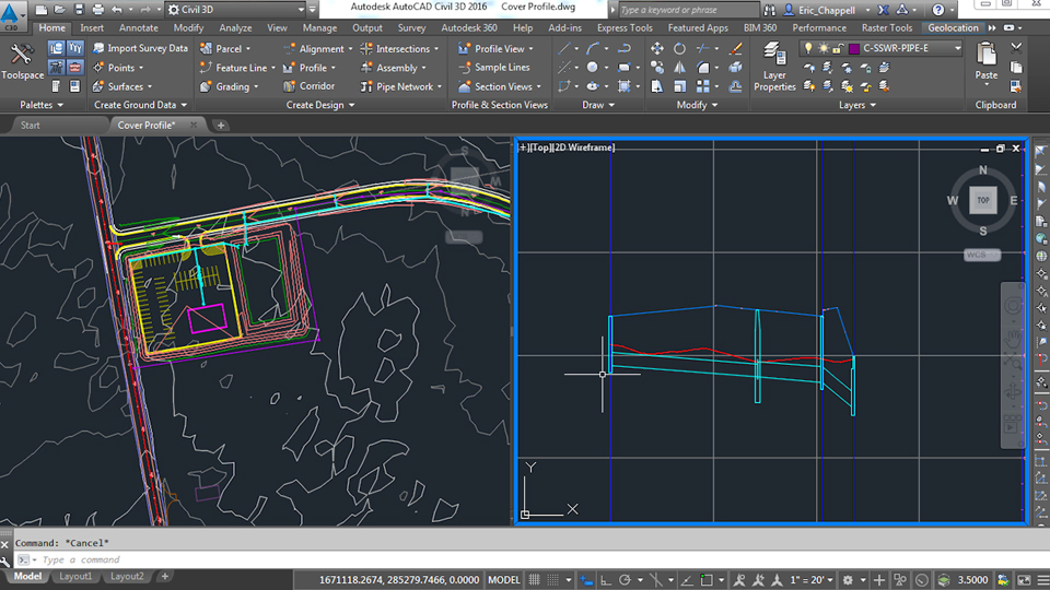 Editing structures using grips: Civil 3D: Designing Gravity Pipe Systems