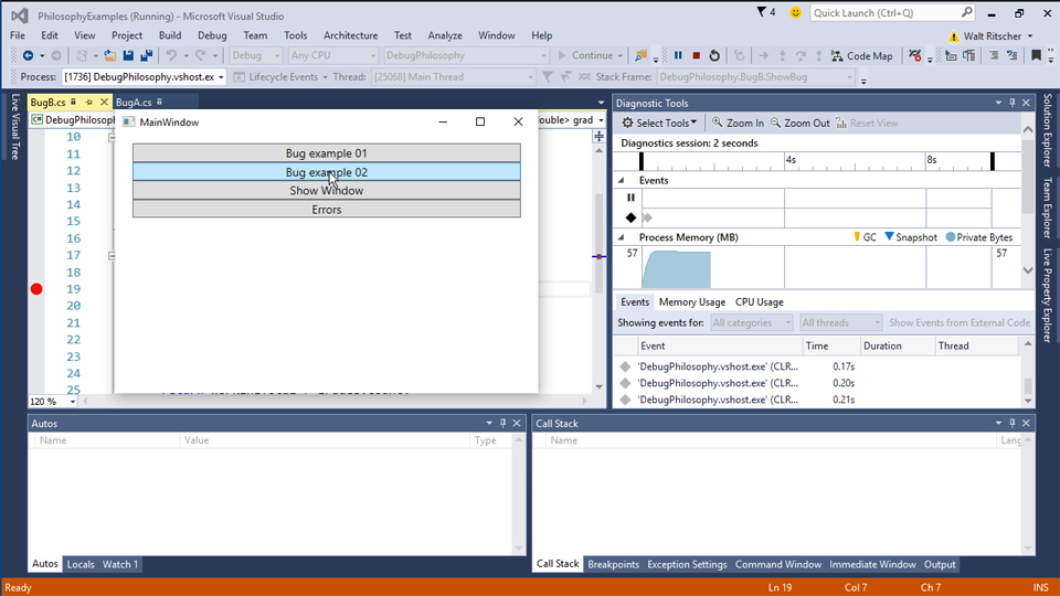 Work with DataTips: Visual Studio 2015 Essentials 06 : Debug and Troubleshoot Code