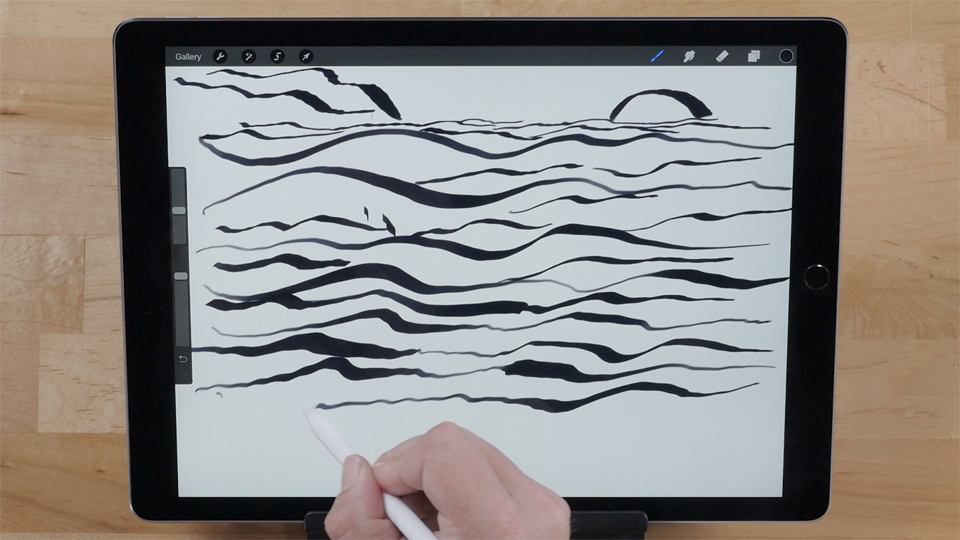 Using Pencil as visual art tool: Up and Running with the iPad Pro