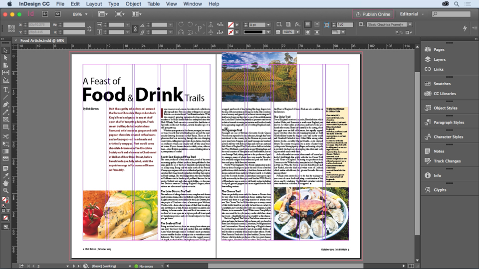 how to change text clour in indesign