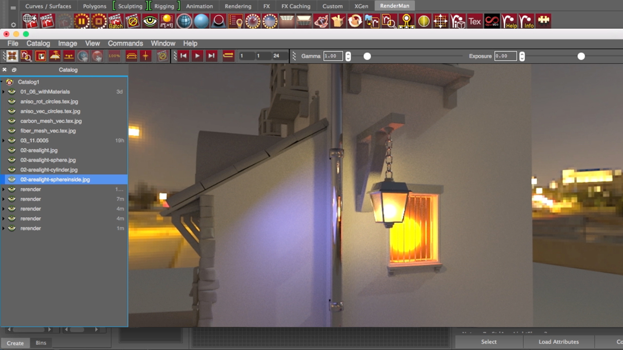 AOVs in the IPR window: Pixar's RenderMan Essential Training