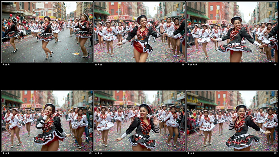 Selecting and evaluating the best parade image: Photo Editing Fundamentals: How to Choose Your Best Shots