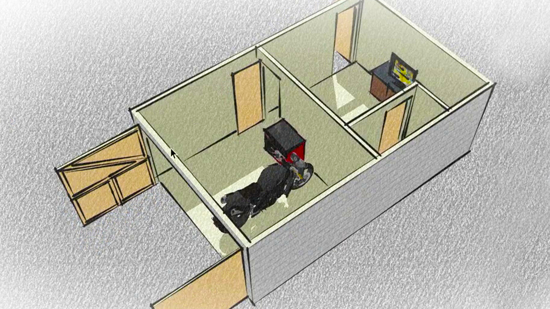SketchUp: he Ultimate Man-ave or She-Shed Design - ^