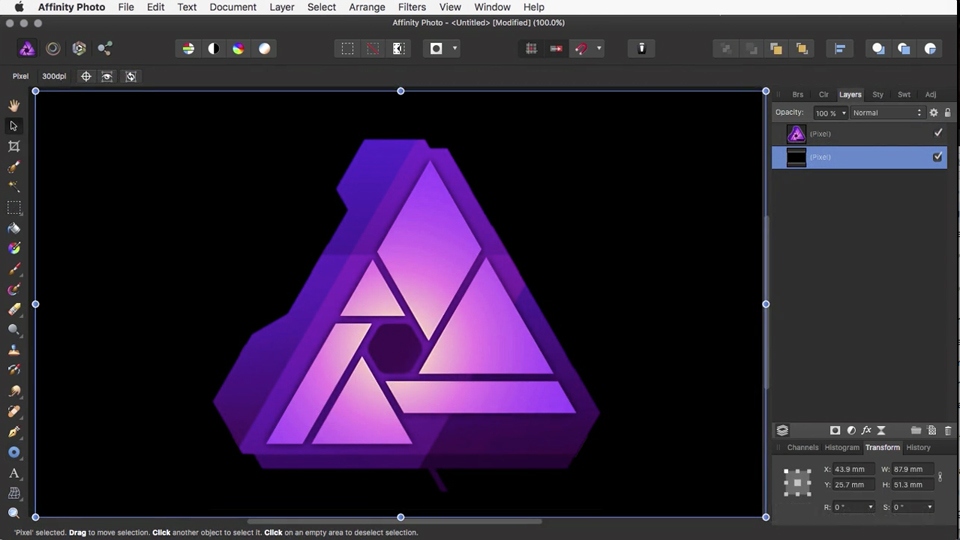 Expanding and outlining selections: Affinity Photo Essential Training
