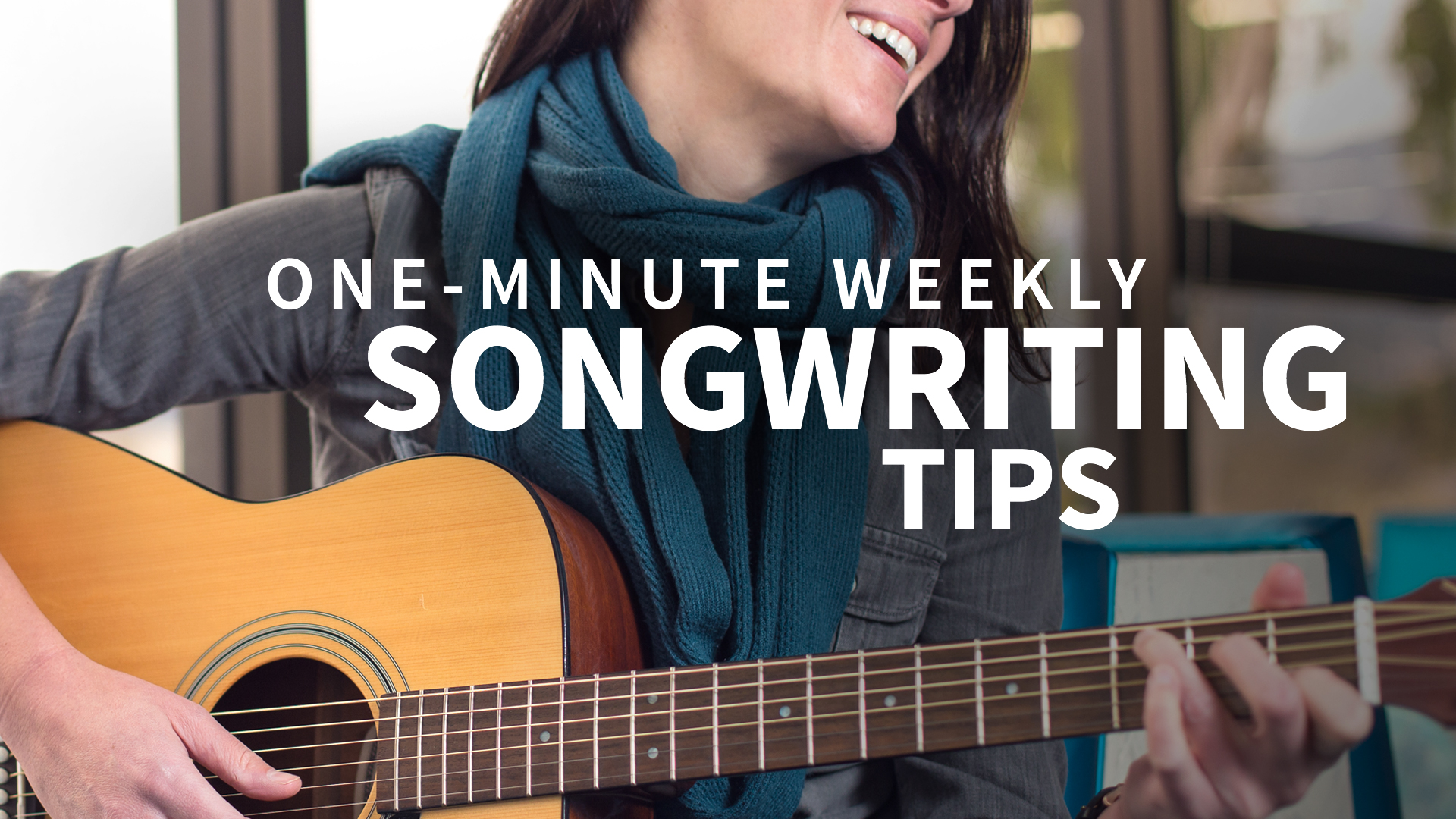 Try using the first line as the last line, too: One-Minute Weekly Songwriting Tips