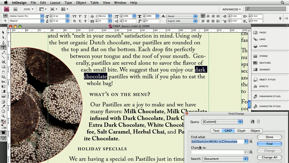 Welcome: InDesign: 10 Things to Know About GREP