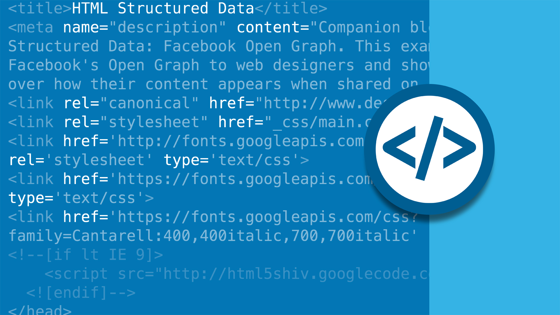 Welcome: HTML Structured Data: Facebook Open Graph