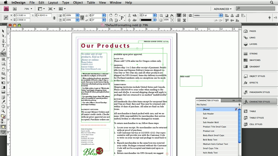 Welcome: InDesign: 10 Essential Tips