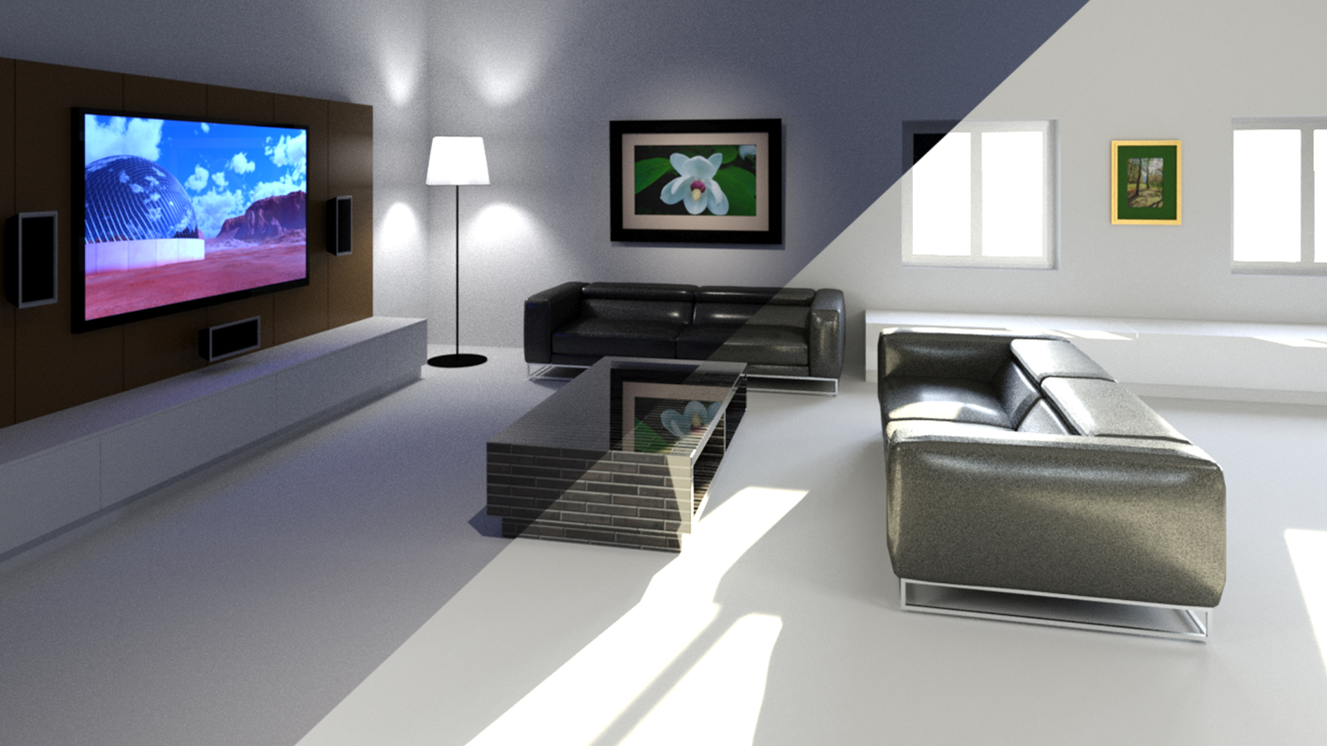 3ds max advanced lighting for Decoration 3ds max
