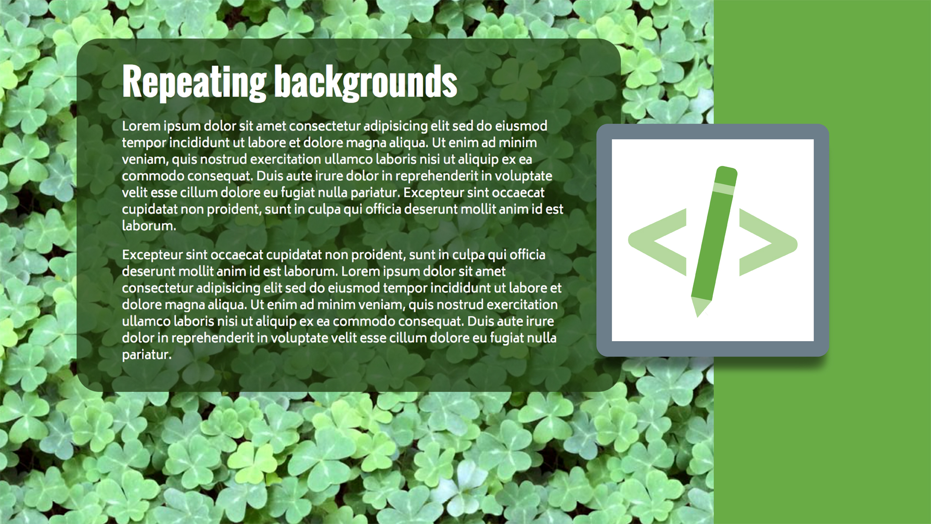 Welcome: Design the Web: Creating a Repeating Background in Photoshop