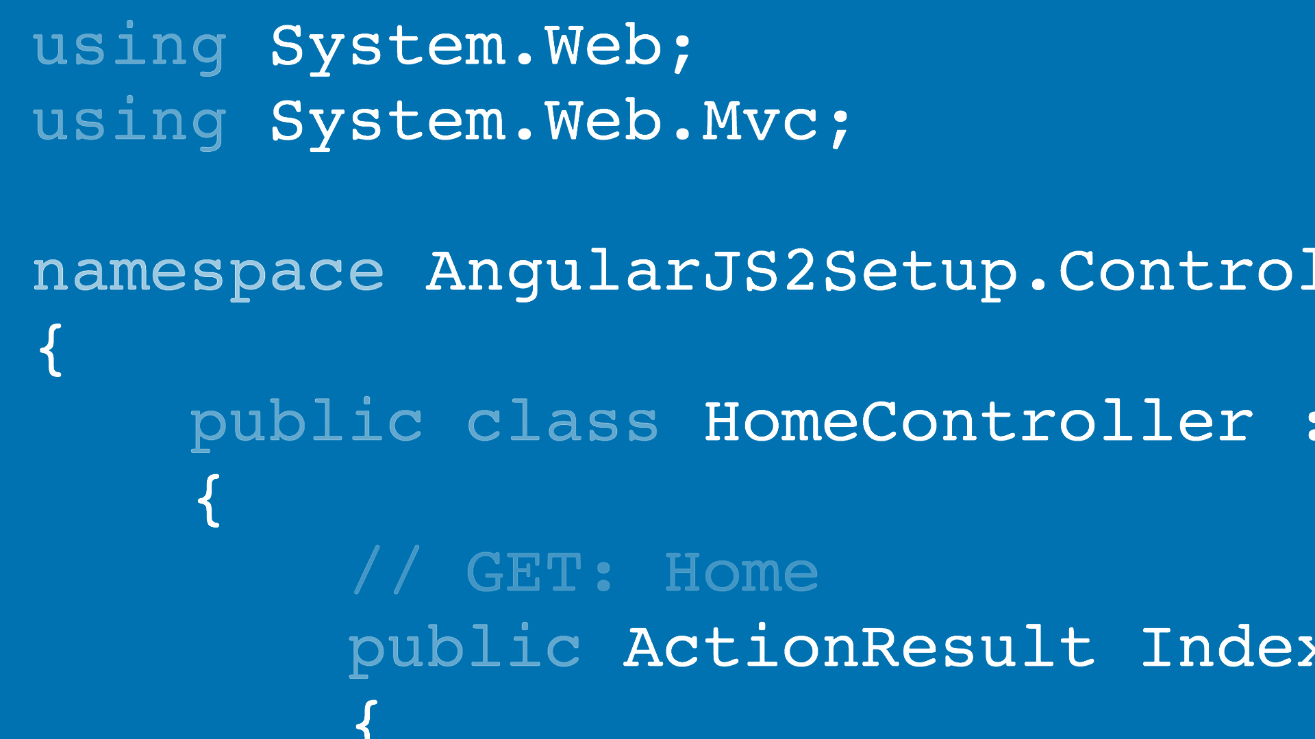 Welcome: Angular2 for .NET Developers