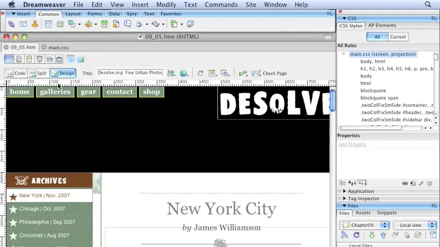 Welcome: Dreamweaver CS3 with CSS Essential Training
