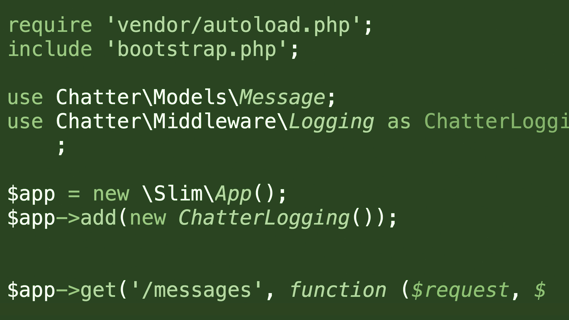 Welcome: Building APIs in PHP Using the Slim Micro Framework