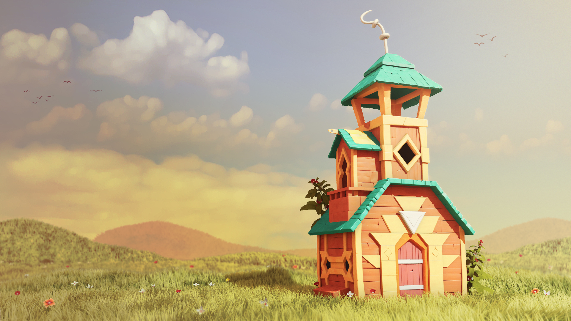 3ds max stylized environment for animation