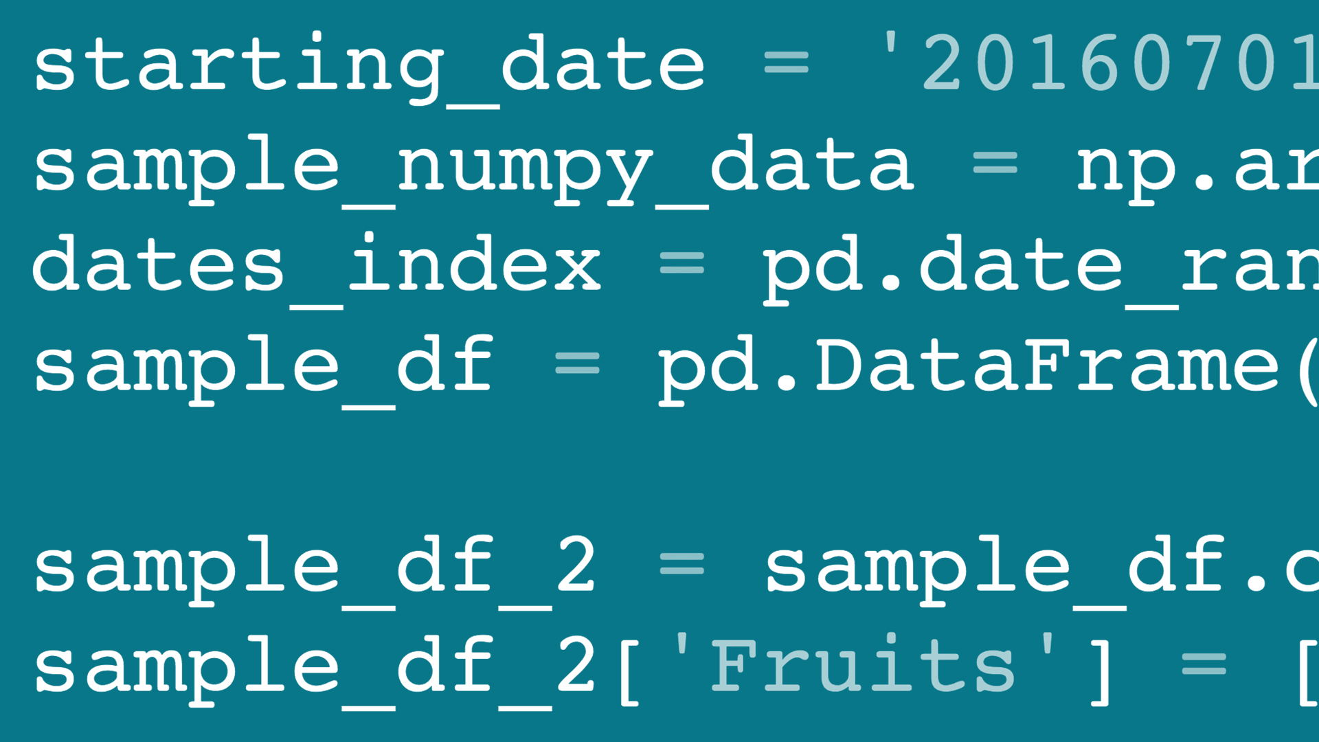 pandas for Data Science
