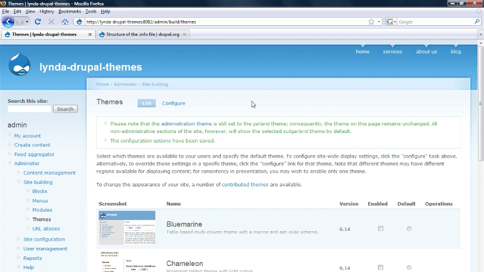 Welcome: Drupal 6: Creating and Editing Custom Themes