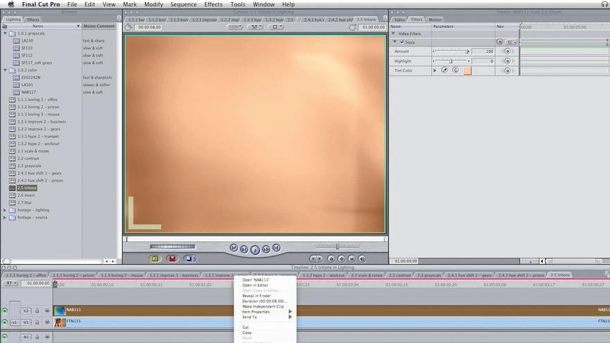 : Final Cut Pro: Lighting Effects in Post