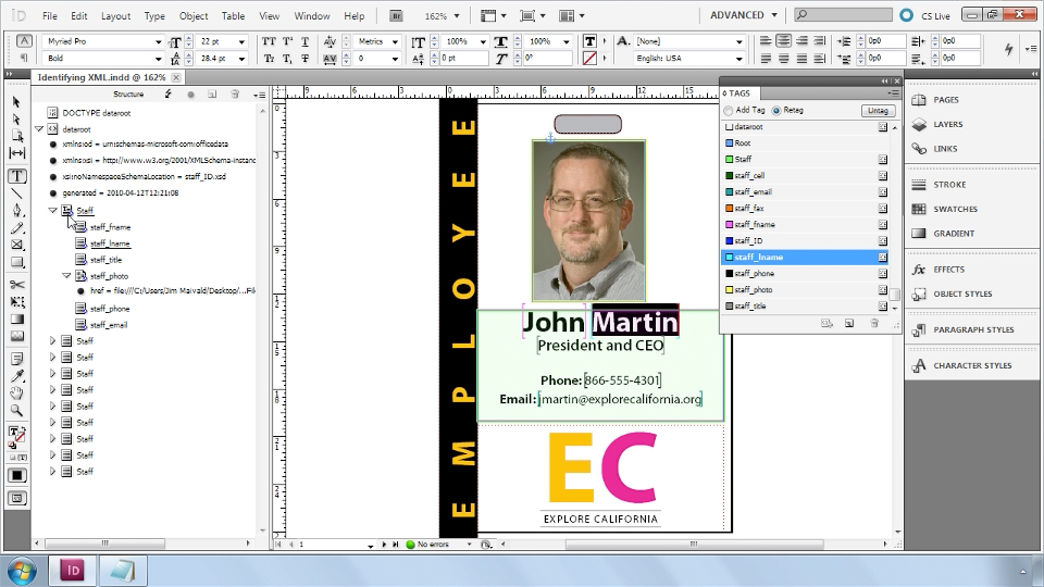 : InDesign CS5: Dynamic Publishing Workflows in XML