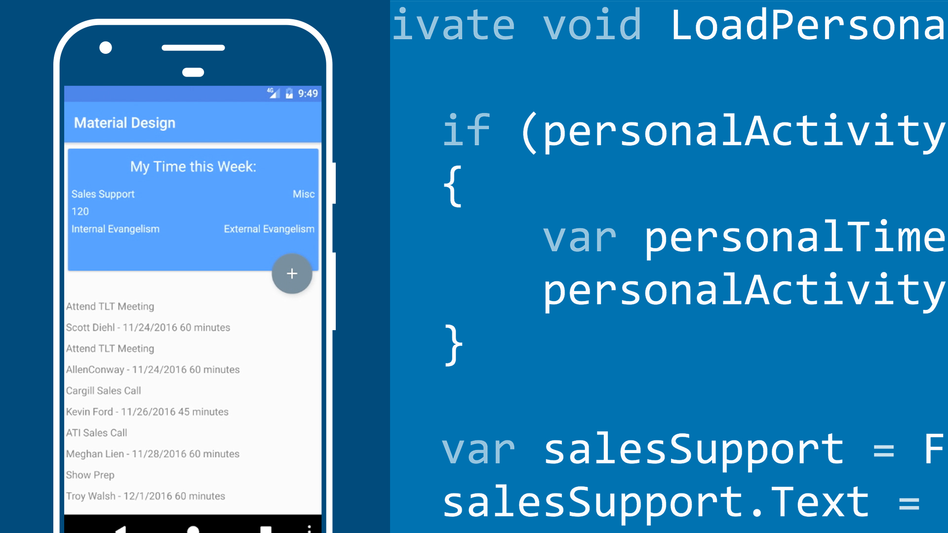 xamarin and android studio material design