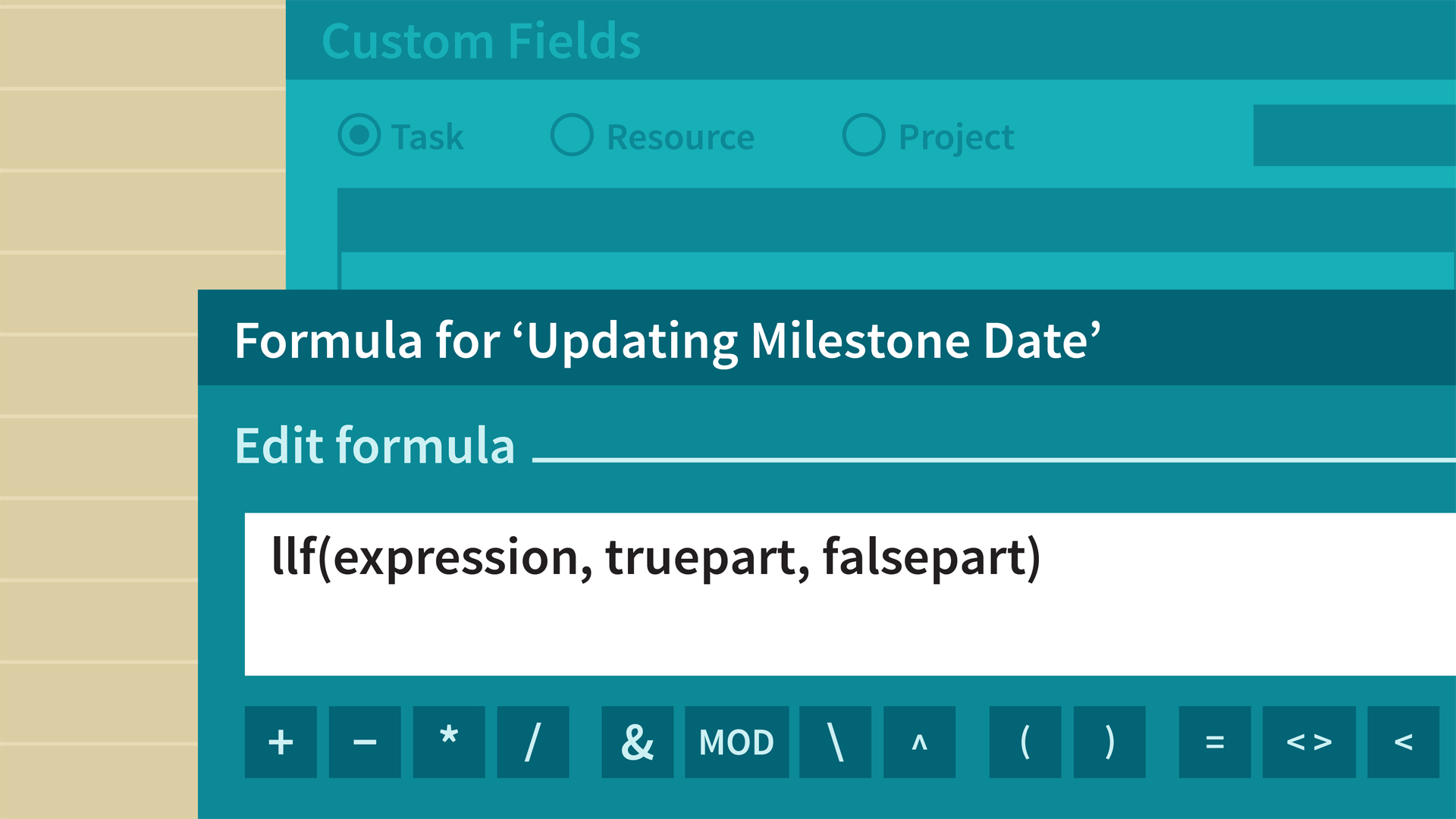 Using a formula to roll up values to summary tasks