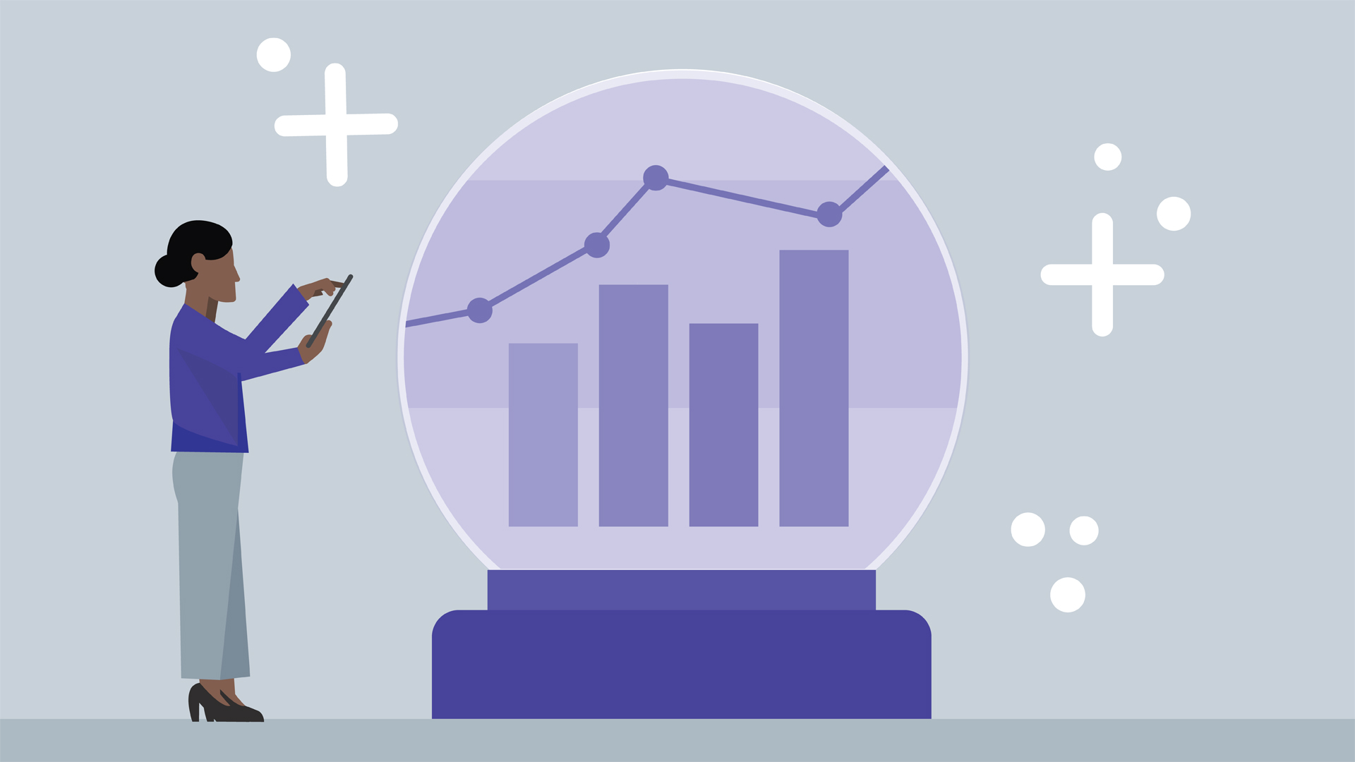 Predict values with regression analysis