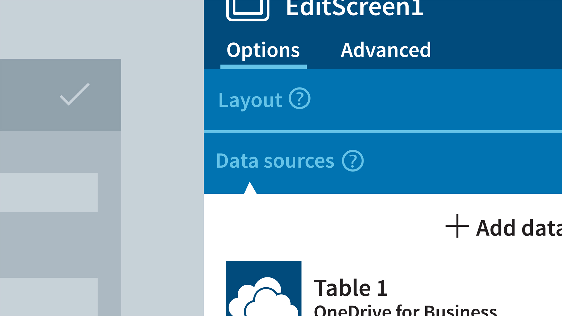 Understanding PowerApps data sources
