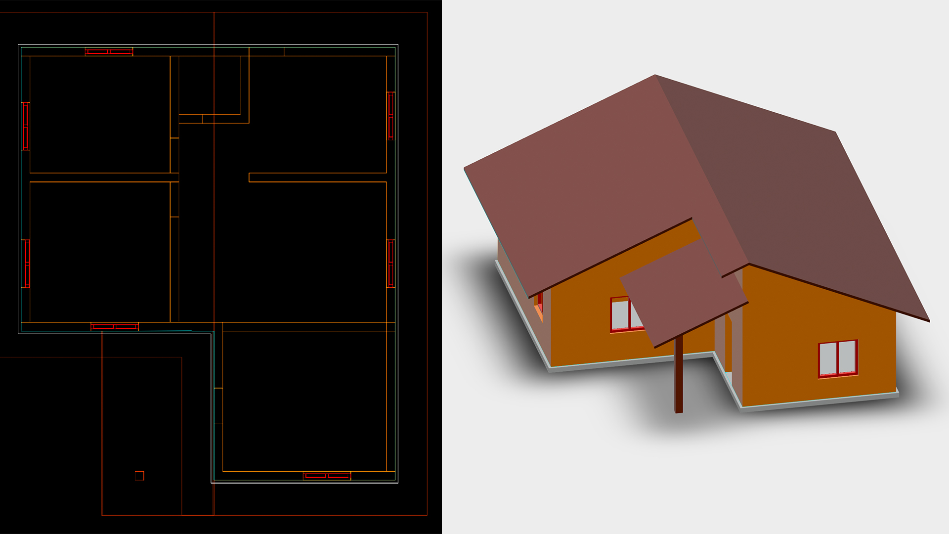 AutoCAD: 2D & 3D Elevations on front house elevation design, best interior house design, beach house front design,
