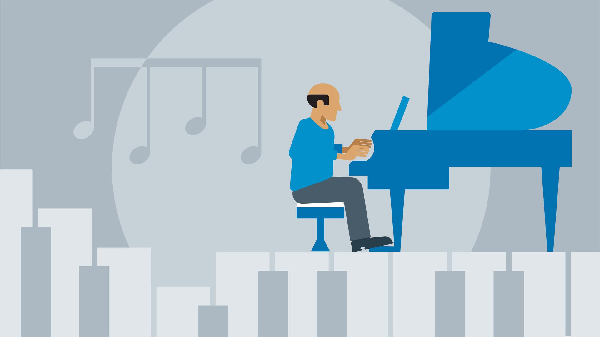 Jazz Piano 4 Tunes Practice Routines