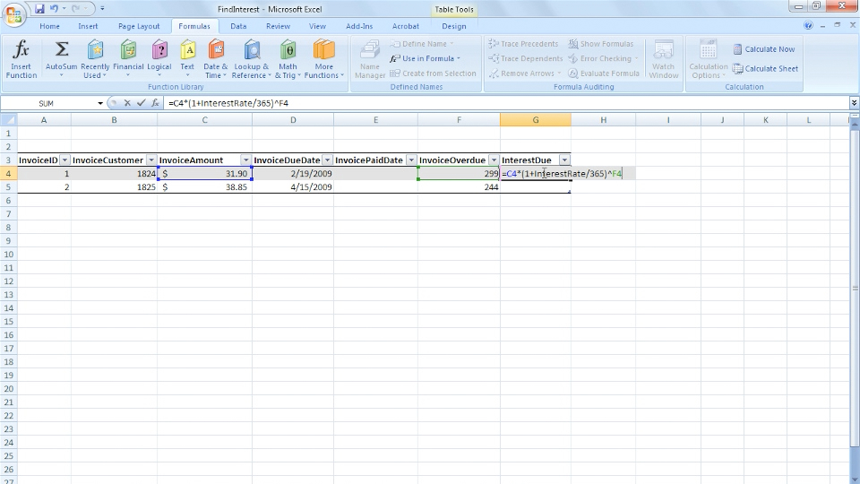 : Excel 2007: Creating and Managing Invoices