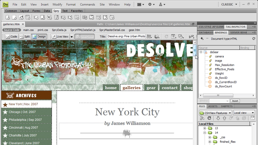 Welcome: Dreamweaver CS4 New Features