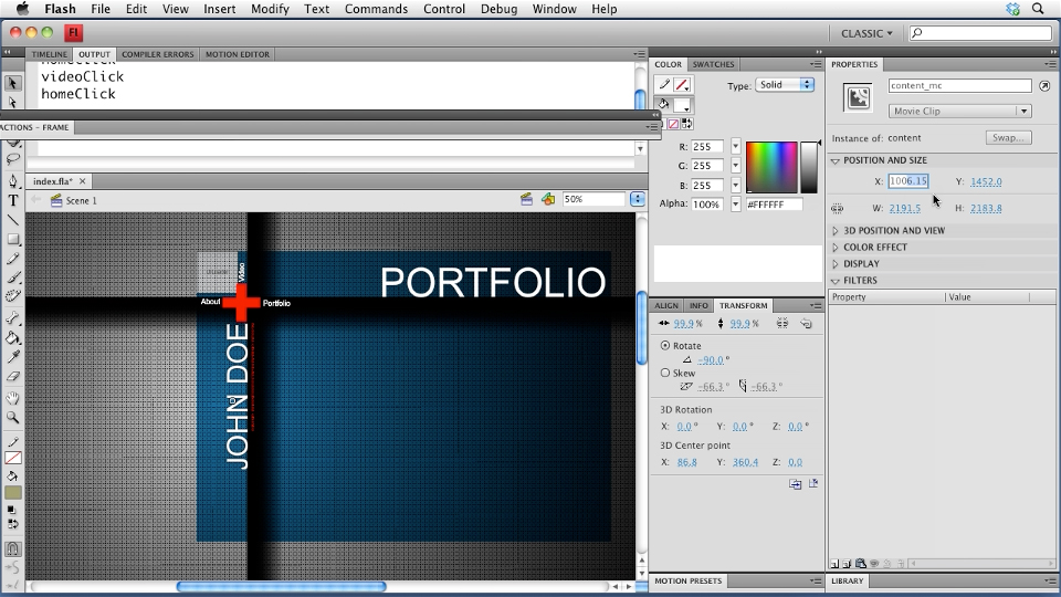 Welcome: Creating a Portfolio Web Site Using Flash CS4 Professional