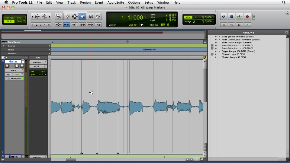 Welcome: Pro Tools Projects: Time Manipulation with Elastic Audio