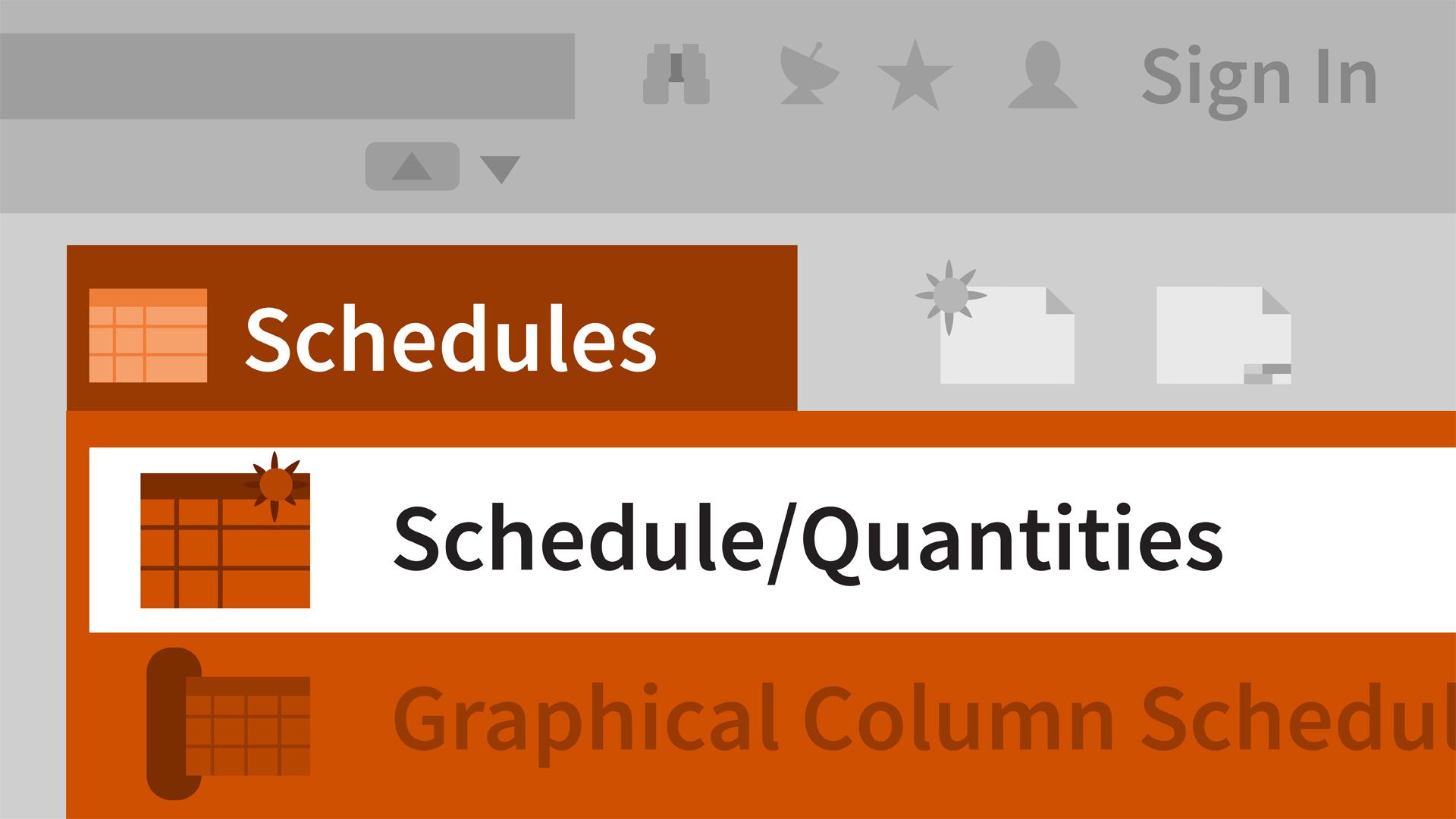 revit schedules