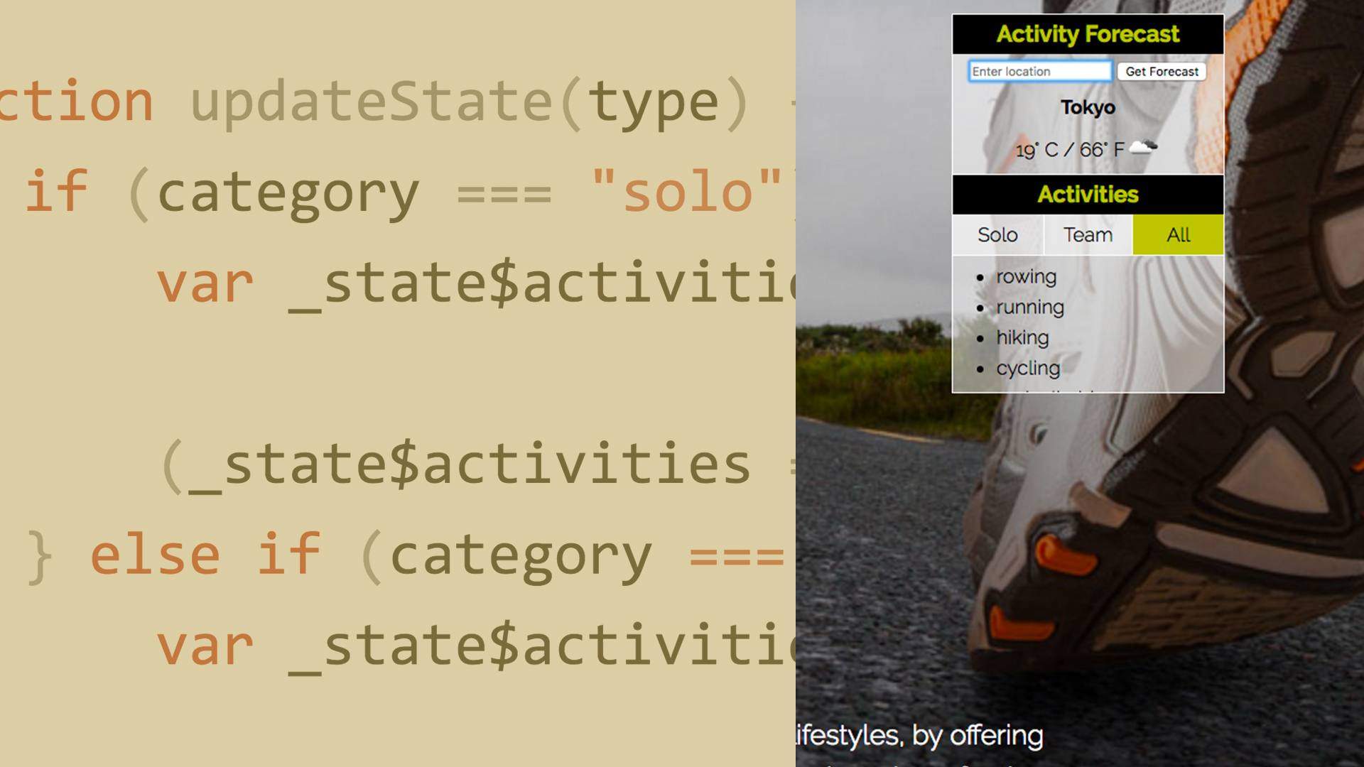 Add event listeners with vanilla JavaScript