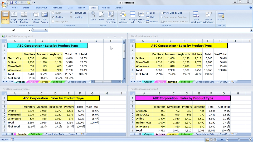 Welcome: Excel 2007: Managing Multiple Worksheets and Workbooks