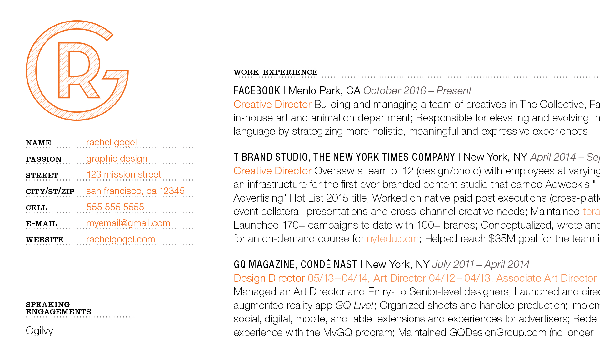 Designing A Resume For Creatives