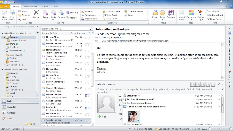 Introduction: Outlook 2010 Essential Training