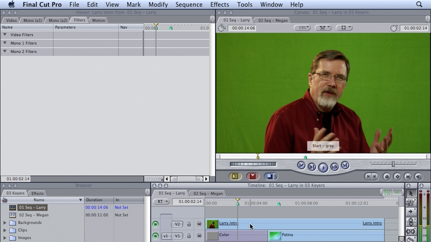 Welcome/Production considerations/What is covered?: Final Cut Studio 2: Chroma Keying