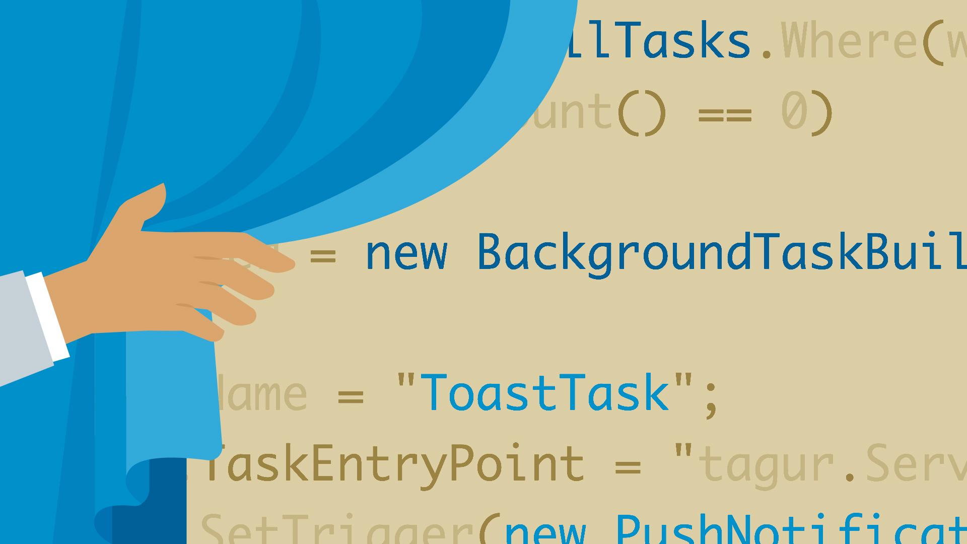 Universal Windows Platform background tasks