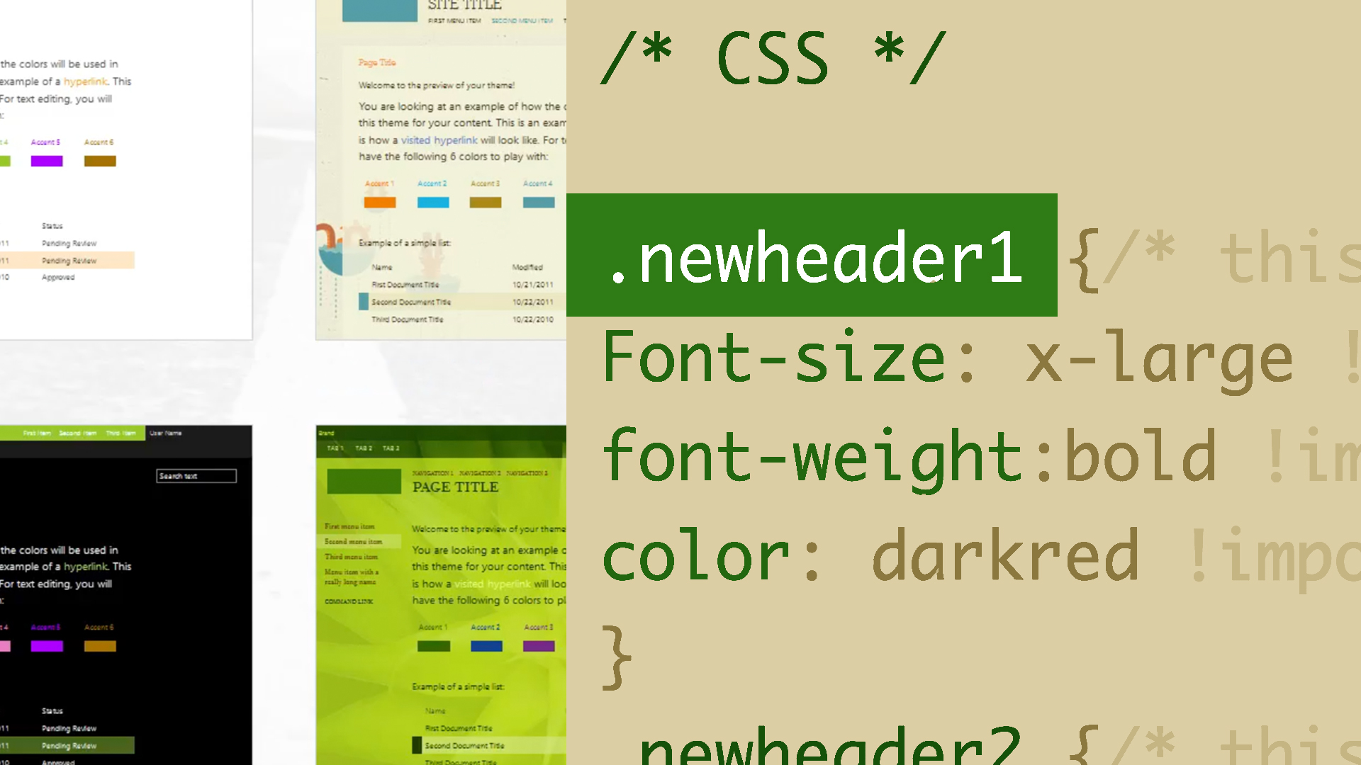 SharePoint: Customizing with Themes and CSS